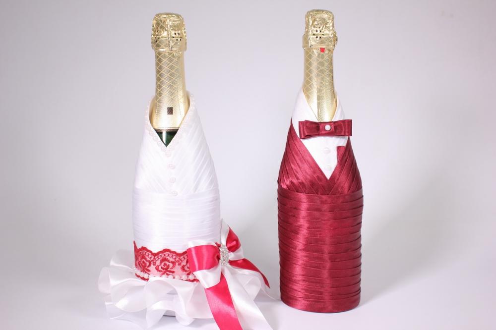 Костюм для шампанского жених и невеста своими руками 93