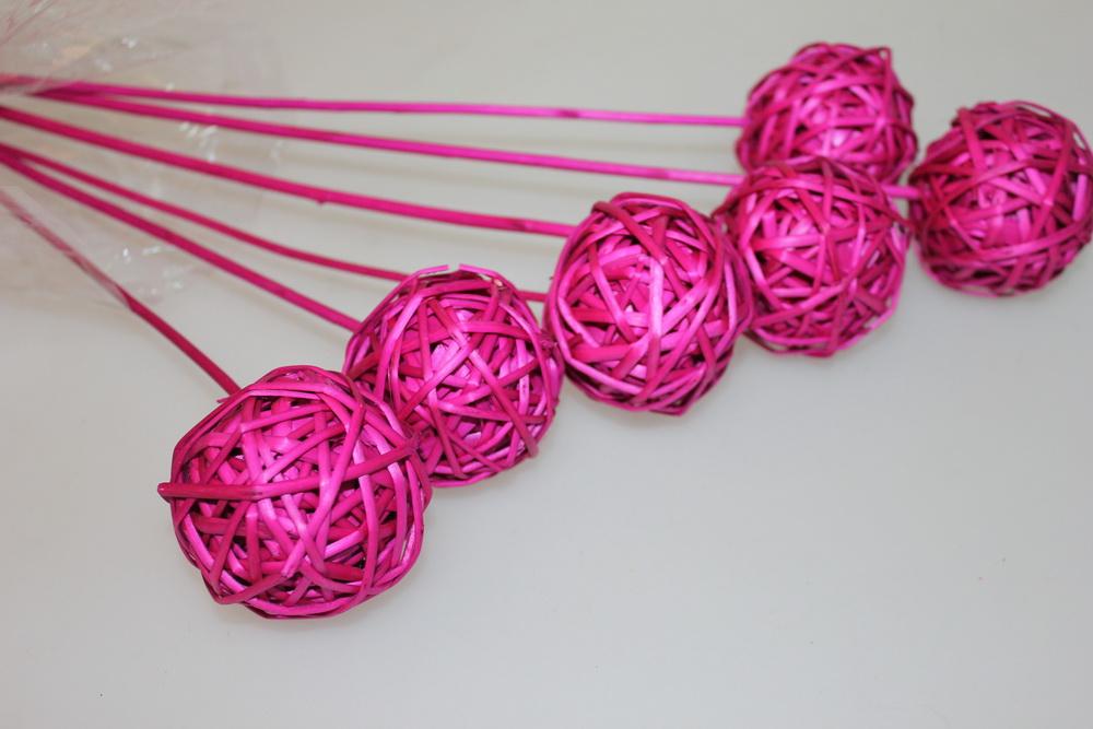 Декоративный шар из ротанга своими руками 23