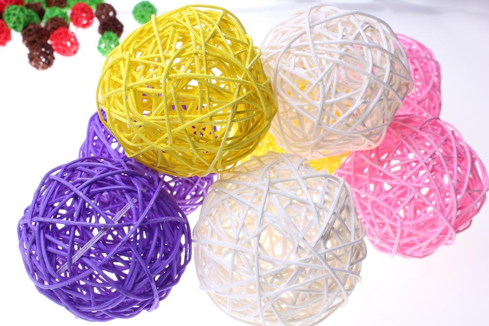Декоративный шар из ротанга своими руками 47
