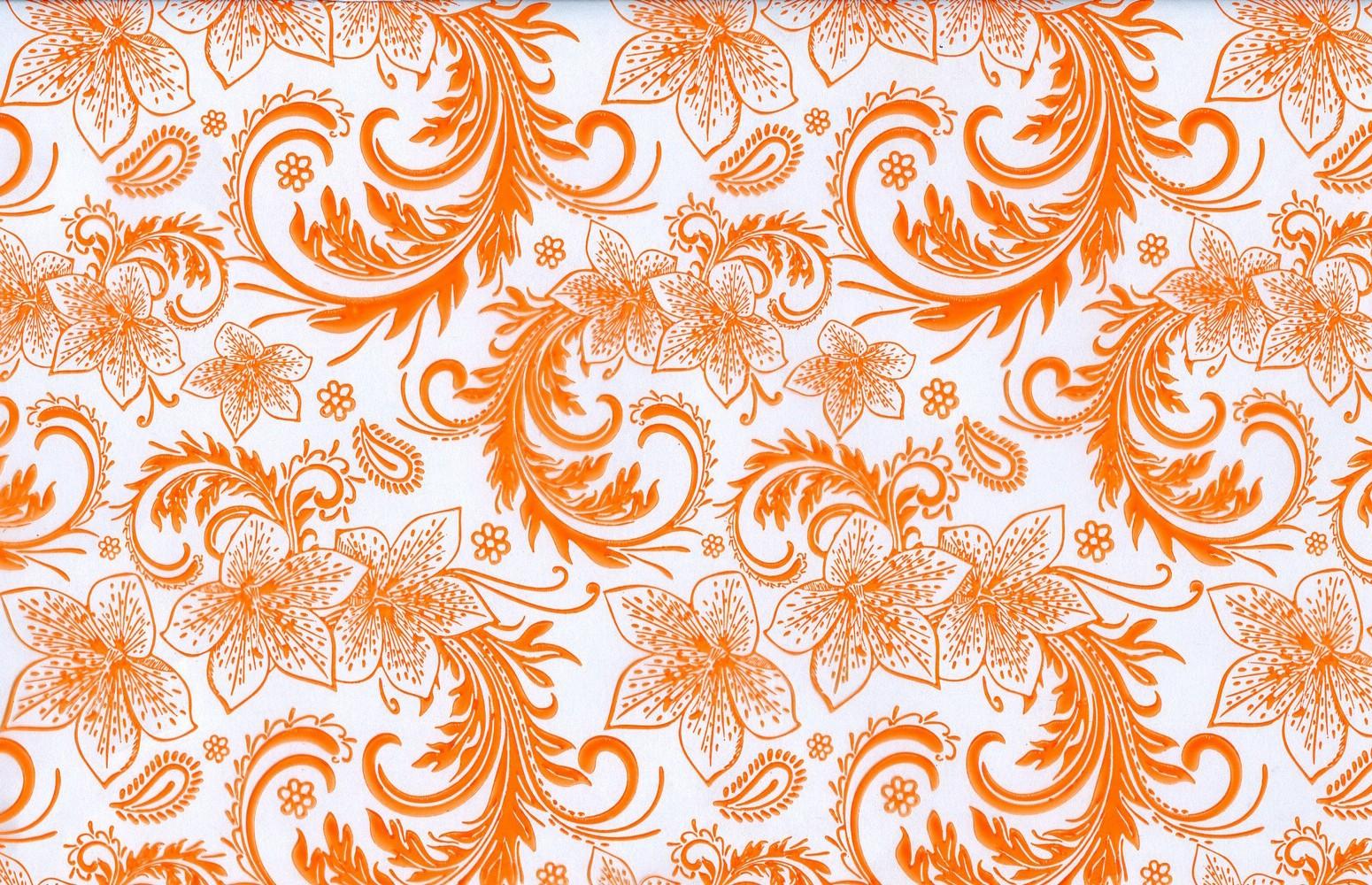 Кружево оранжевое