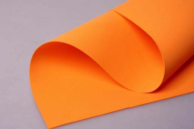 Фоамиран 007 - ORANGE (оранжевый) 60х70см