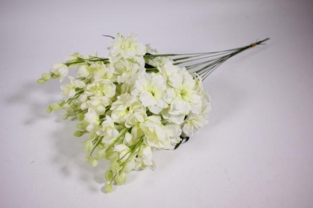 Искусственные растения - Левкой 45см белый (12шт в уп) SUN476