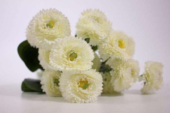 Искусственные растения - Маргаритка 30 см кремовая (7шт в уп) - Код SUN461