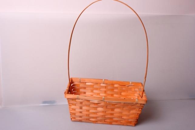 Корзина плетеная (бамбук) оранжевая d=30[17,5, h=12/45см 6854