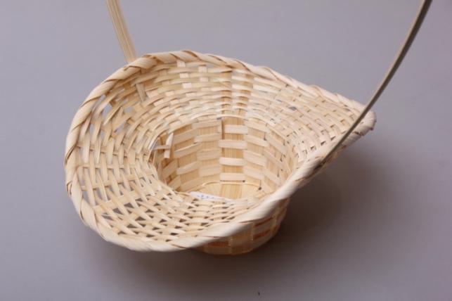 Корзина Шляпа соломка натуральная