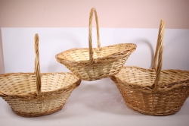 Набор плетёных корзин из 3шт - Ива (Код 3364)