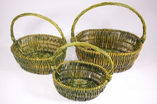 Набор плетёных корзин из 3шт - Ива (Код 4620)