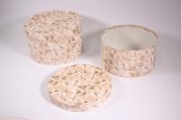 Набор подарочных коробок из 2шт (Шляпная  под цветы с ручкой) Люкс - Абстракция (Код ЦЦВ11ЛЮКС)