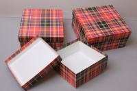 """Набор подарочных коробок из 3шт. """"Квадрат №75  Ассорти"""" 19,5*19,5*9,5см  Пин 75"""