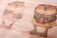 открытка + конверт 15х10,5см - подружки (деревянный шпон)