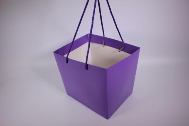 Подарочные пакеты - Сумка Люкс однотонная Фиолетовая (23*23*19)   (10 шт/уп) 19F