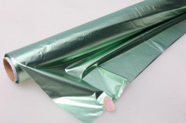 Полисилк металл в рулоне (1м х 50м) - Салатовый