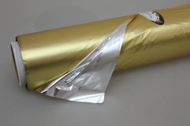 Полисилк металл в рулоне (1м х 50м) Золото/Серебро