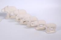 Слоны набор 7 шт (керамика)