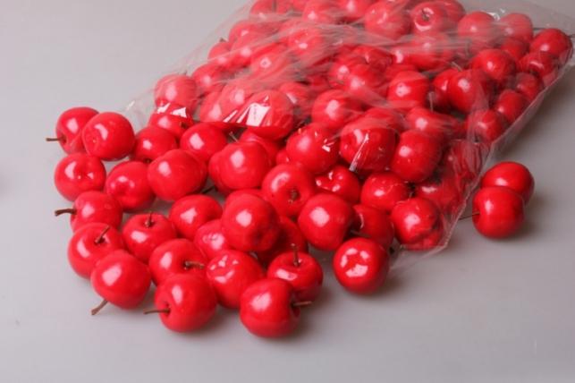 Яблоки в пачке 4см красные (100шт в упаковке) 9383