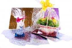 Пакеты подарочные прозрачные с жёстким дном