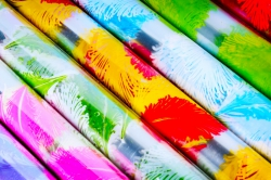 Плёнка для цветов - Перья 0.7 в рулонах