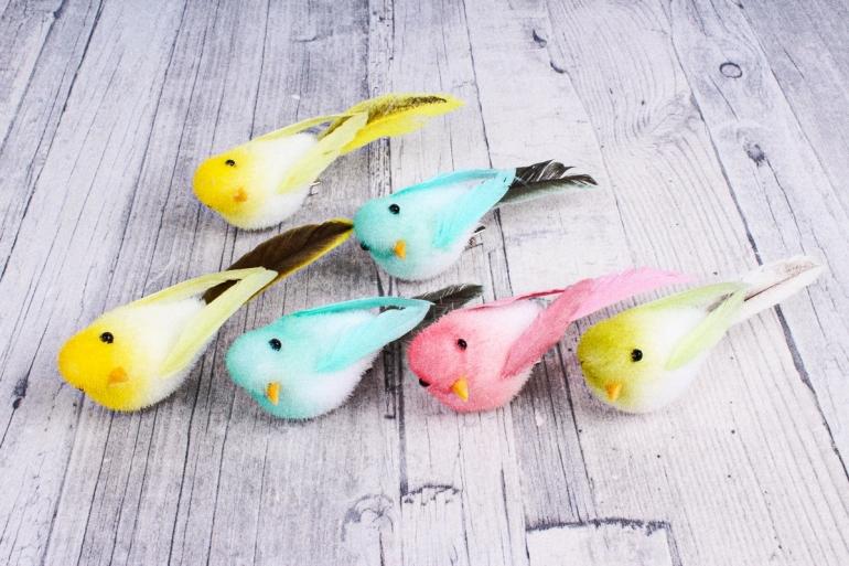 1508 Птичка 10 см на прищепке (6 шт в уп) 2810178