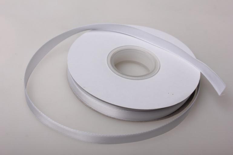001 лента атласная 9мм 45м белая - китай