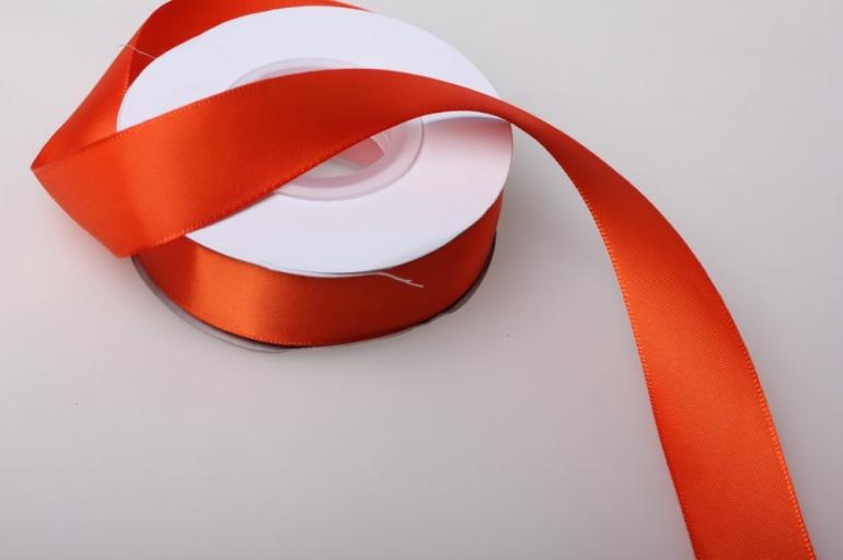0069 лента атласная 25мм 23м  оранжевая - китай