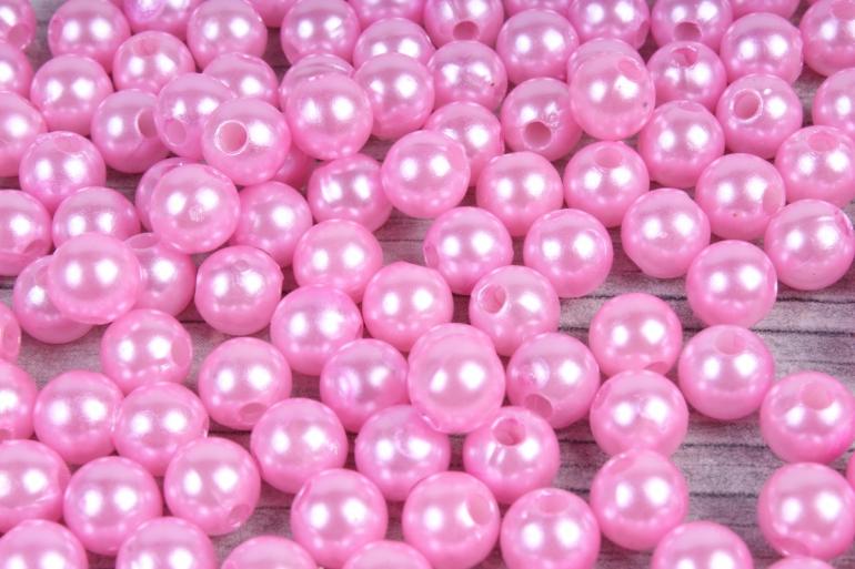 Бусины (А) перламутровые розовый   в пакете 100гр