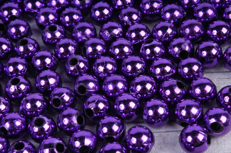Бусины (А) металл фиолет   в пакете 100гр