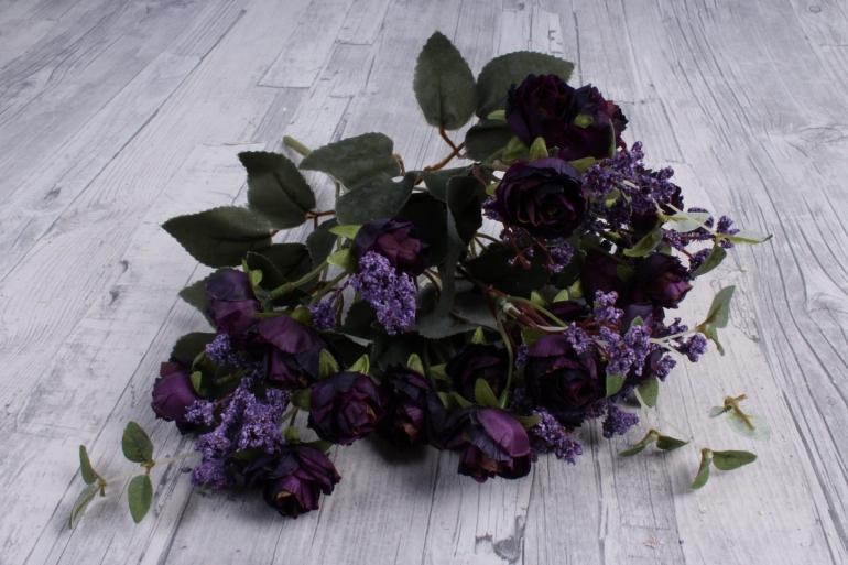 Искусственное растение - Ранункулюс Ретро черничный