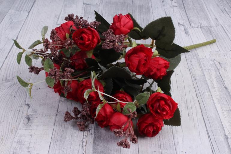 Искусственное растение - Ранункулюс Ретро красный