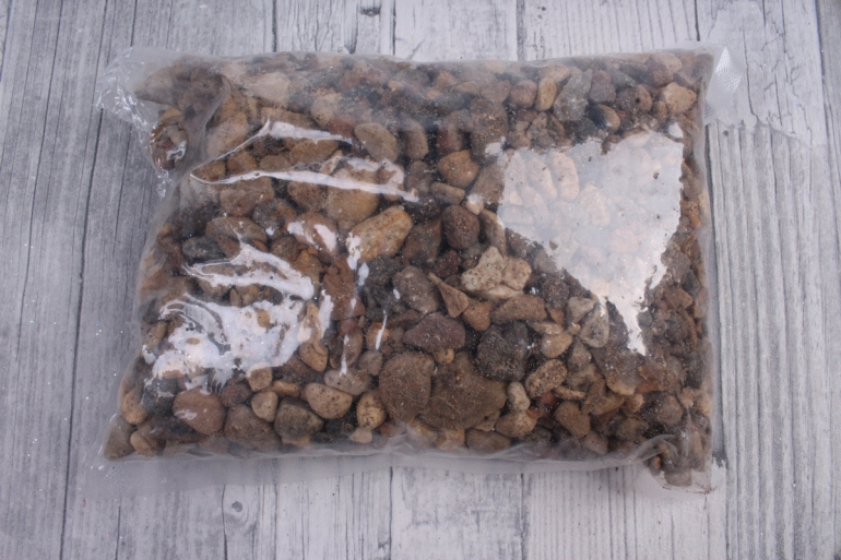Грунт пестрый лакированный, 5-10 мм, 1кг  5216
