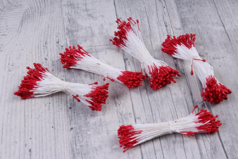Тычинки фоам красные 2 мм (380 шт)