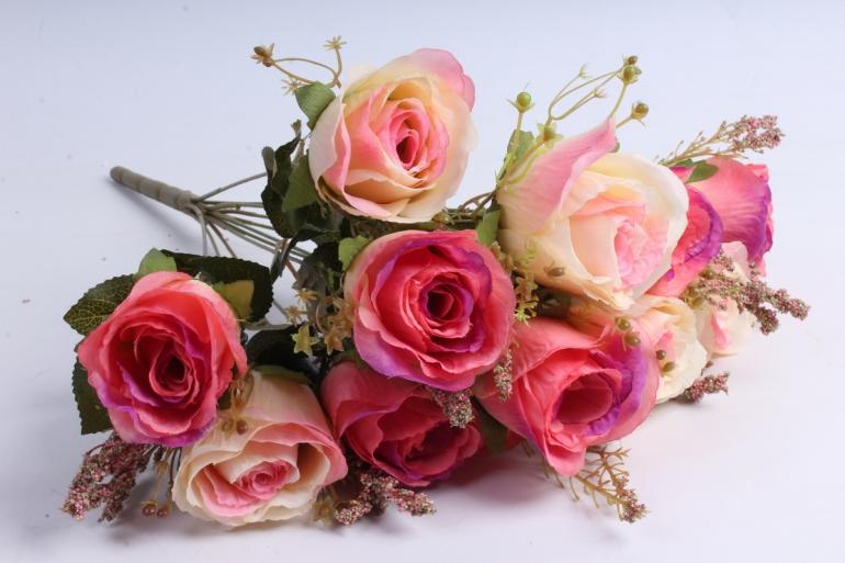 Искусственное растение - Розы ретро Акварель акварельные