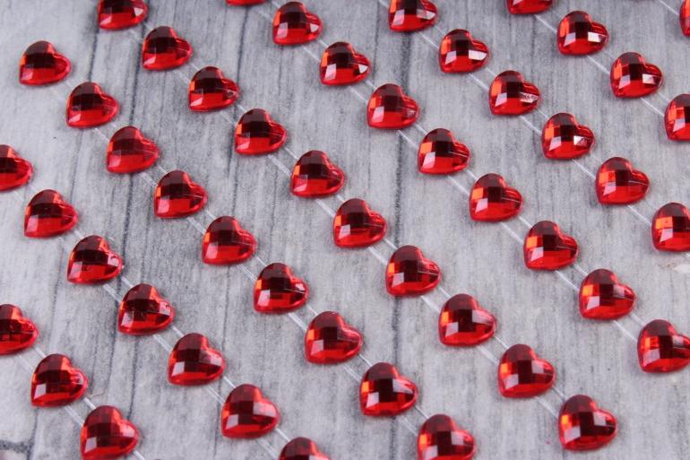 Стразы Сердца 6мм 120шт  N2013 6ММ  9867