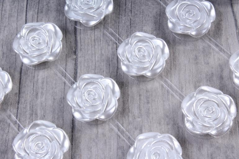 Стразы Розы белые 18мм 18шт  DZ325  9038