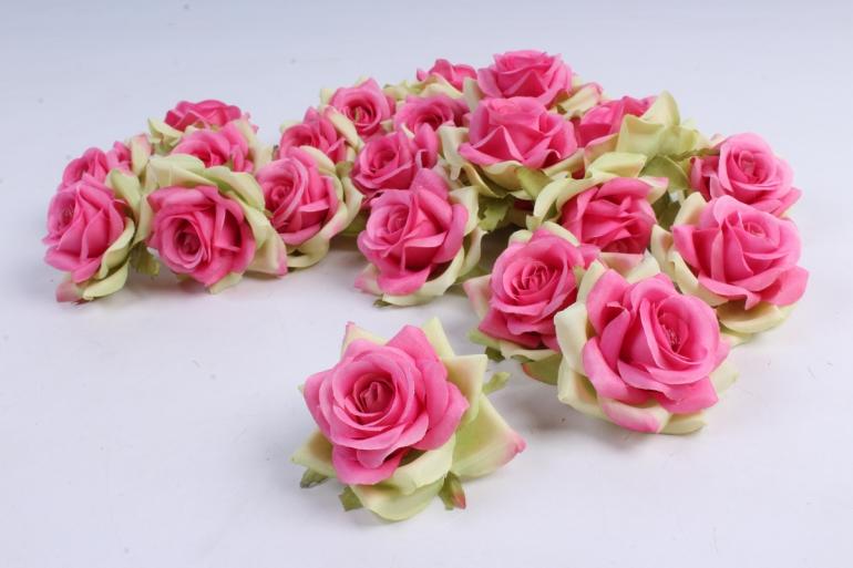Головка Розы Розово-салатовые ( в уп. 24 шт)  d=5см   ART117  7075