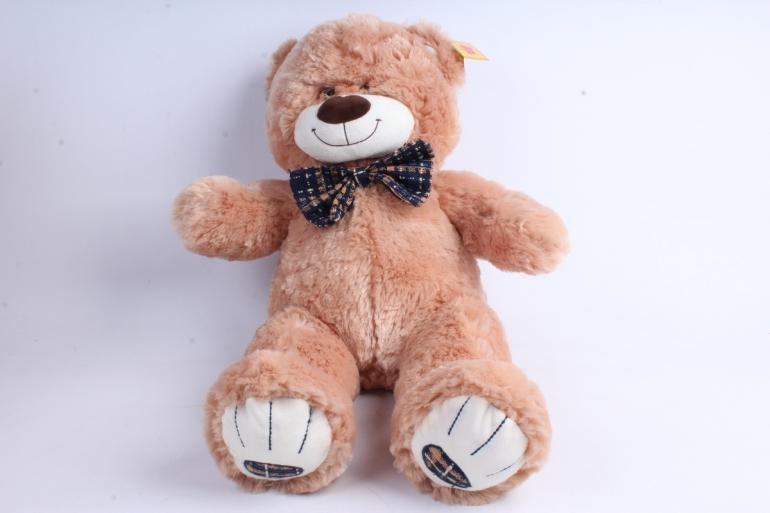 Игрушка мягкая Медведь с бантом  Бежевый  М-2956/40