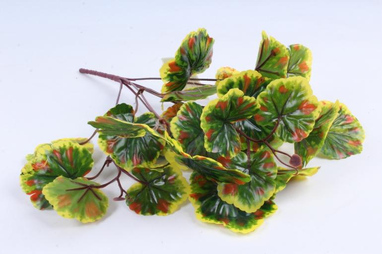 Искусственное растение - Листья герани зелёно-жёлтые