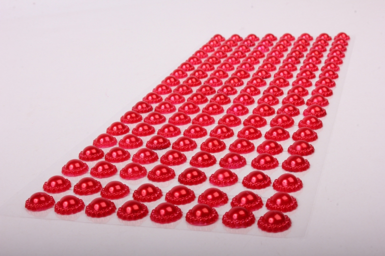 Стразы на листе красные  8мм  136 шт  DZ749  9531