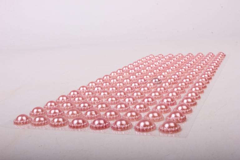 Стразы на листе розовые  8мм  136 шт  DZ745  9494