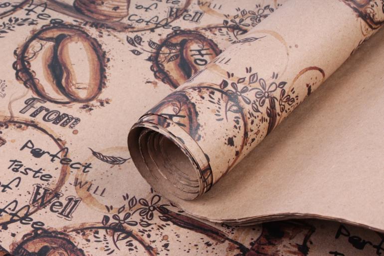 Бумага  КРАФТ Кофе  0,7*1м в лист. (10 лист.)  78г/м2  (М) UNKOF4-K