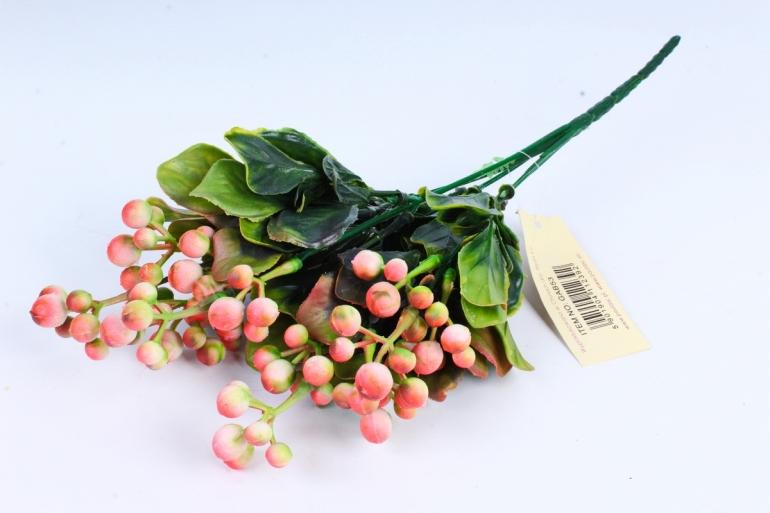 Веточка с ягодами розовая  GAB53