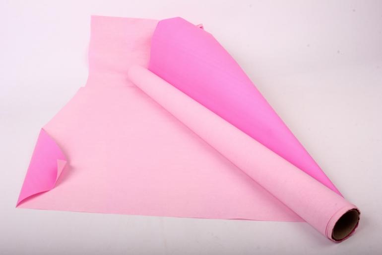 Бумага  КРАФТ  Розовый/ярко-розовый однотонный   (70см*10м) К