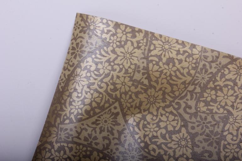 """Бумага на золотой основе """"Листья"""" (золото) GOL-1054"""