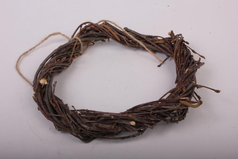 Венок плетеный из веток 15см