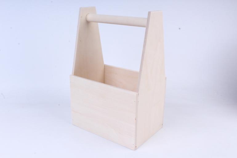 деревянная заготовка - ящик под 6 бутылок пива