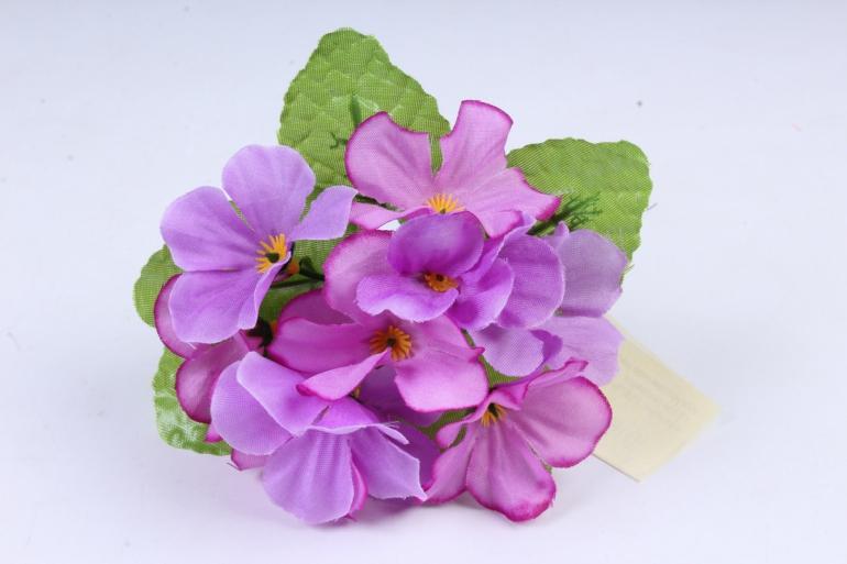 Искусственное растение - Фиалки мини лиловые