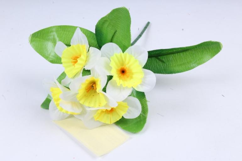 Искусственное растение - Нарциссы  желто-белые
