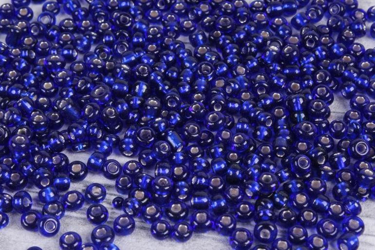 бисер декоративный  синий  (450гр)