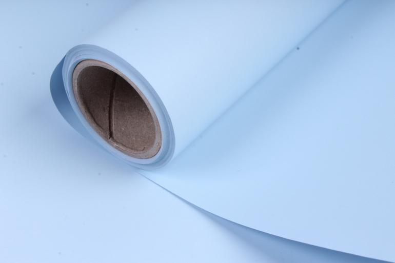 матовая бумага (н) 50см*10м 50мкр.голубой