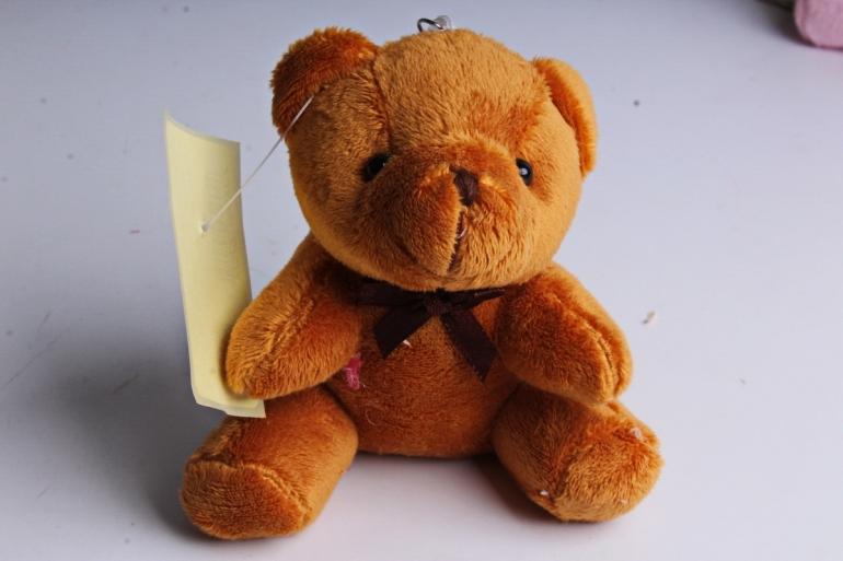 Игрушка для букета (Г) - Мишки-17 коричневый 10*10см, арт.АС186