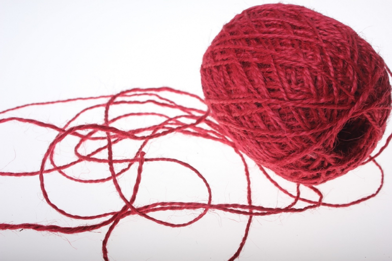 аксессуары для флористов - лента текстильная - шнур натуральный джутовый в ассортименте 100гр аксессуары для флористов - лента текстильная - шнур натуральный джутовый в ассортименте 100гр - красный 2223